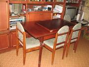 Обеденная группа - стол и 4 мягких стула,  б/у