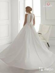 Атласное свадебное платье Lady White